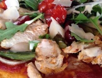 Chicken Hail! Caesar Pizza