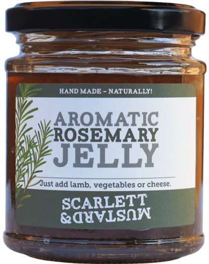 A 200g jar of Aromatic Rosemary Jelly