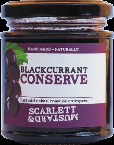 A 200g jar of Blackcurrant Conserve