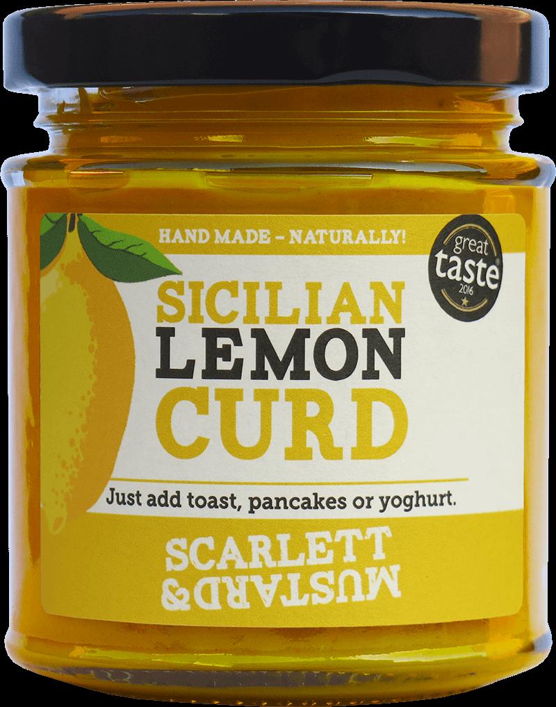 A 200g jar of Sicilian Lemon Curd
