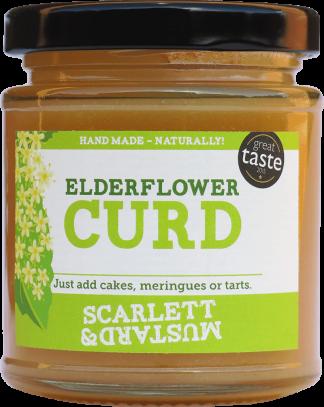 A 200g jar of Elderflower Curd