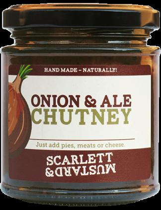 A 200g jar of Onion & Ale Chutney