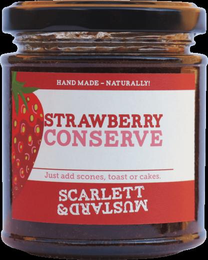 A 200g jar of Strawberry Conserve