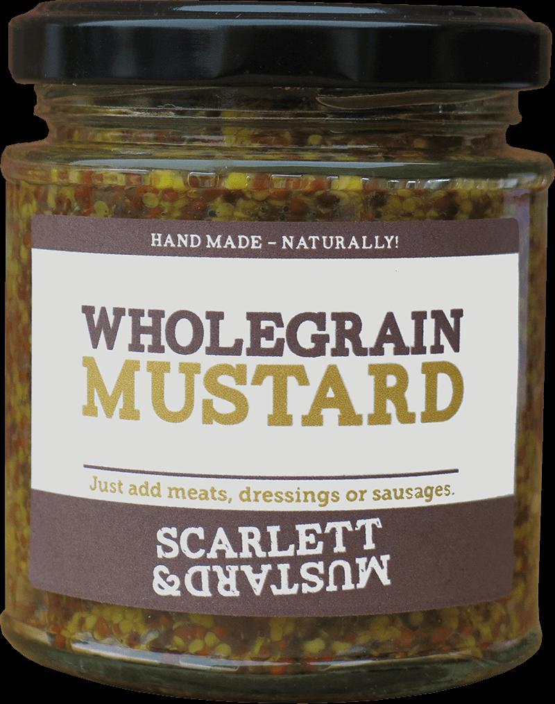 A 200g jar of Wholegrain Mustard