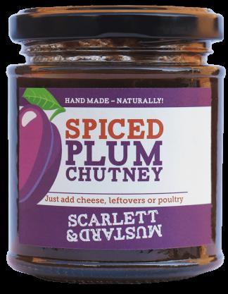 A 200g jar of Spiced Plum Chutney