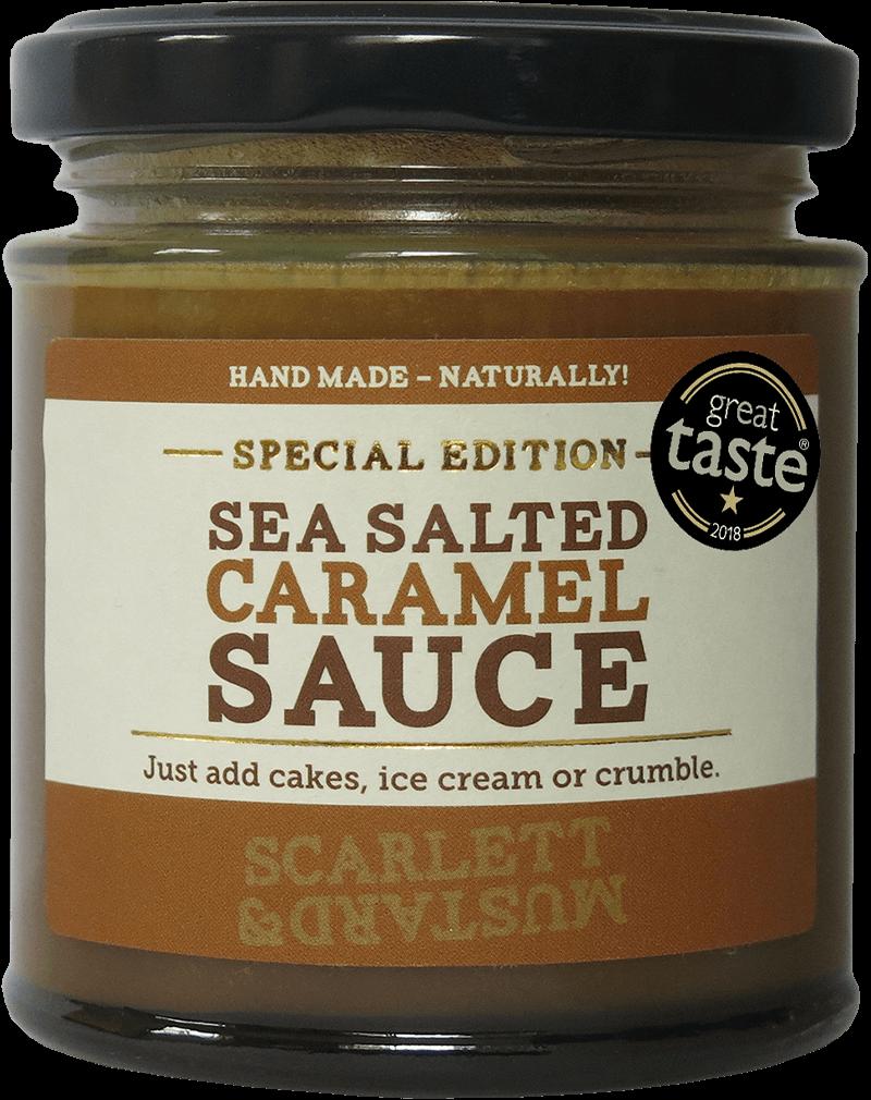 A 200g jar of Sea-Salted Caramel Sauce