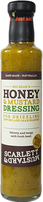 A 250ml bottle of Honey & Mustard Dressing