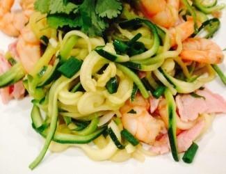 Prawn & Bacon Zucchini Noodles