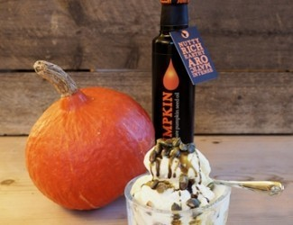 Pumpkin Seed Oil with Vanilla Ice Cream