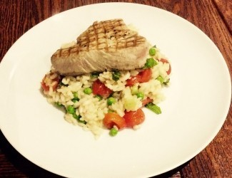 Tuna Steak Risotto