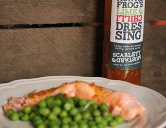 Poached Salmon with Minted Peas