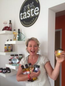 Sandy celebrating last week after we won 5 Great Taste Awards!