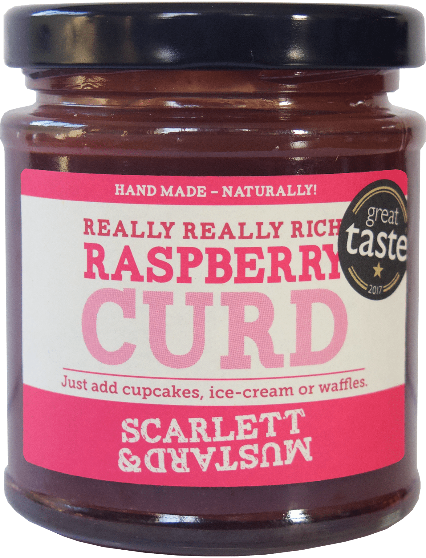A 200g jar of Raspberry Curd