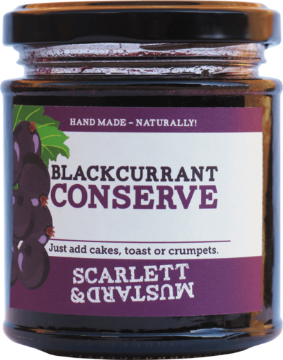 A 200g jar of Blackcurrant Conserve