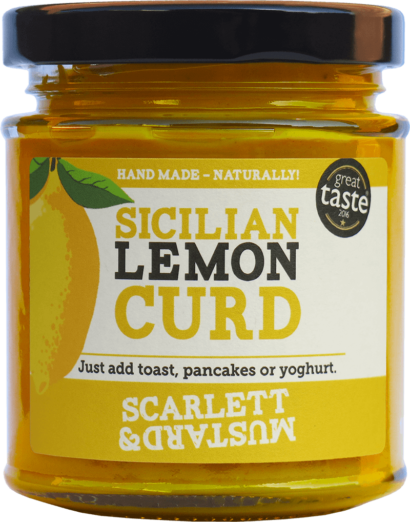 A 200g jar of Sicilian Lemon Curd