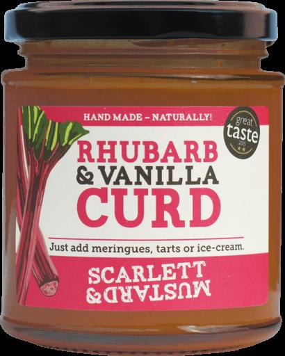 A 200g jar of Rhubarb & Vanilla Curd