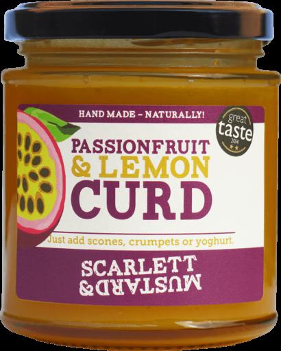 A 200g jar of Passionfruit & Lemon Curd