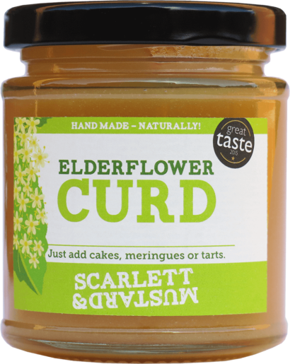 A 200g jar of Elderflower Curd