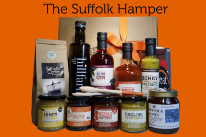 A hamper box of Suffolk produce